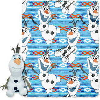 Disney Frozen Olaf Throw and Character Pillow Set