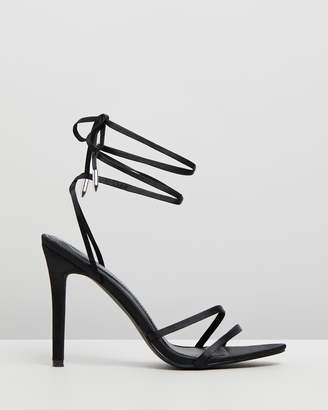Missguided Pointed Toe Lace-Up Heels