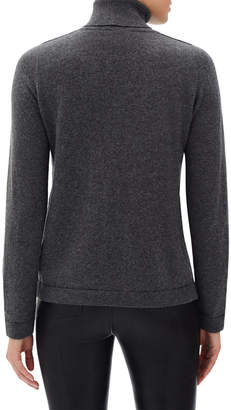 Lafayette 148 New York Metallic Cashmere Pullover Turtleneck Sweater