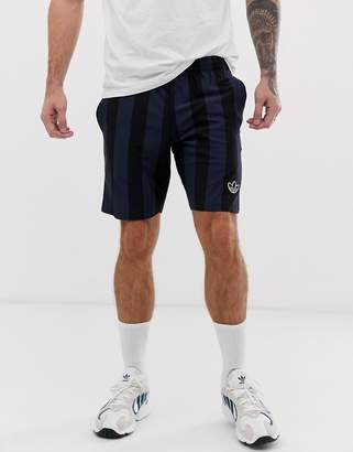 adidas shorts with stripes and trefoil logo in black