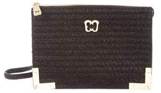 Eric Javits Woven Leather Crossbody Bag