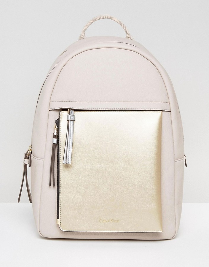 Calvin Klein Charly Front Zip Detachable Pouch Backpack