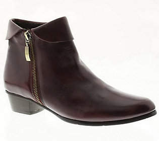 Spring Step Stockholm Leather Ankle Boots