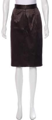Dolce & Gabbana Satin Pencil skirt