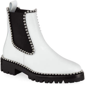 Alexander Wang Spencer Ball-Studded Leather Chelsea Boots