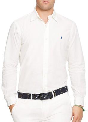 Polo Ralph Lauren Cotton Silk Regular Fit Button-Down Shirt - 100% Exclusive $125 thestylecure.com