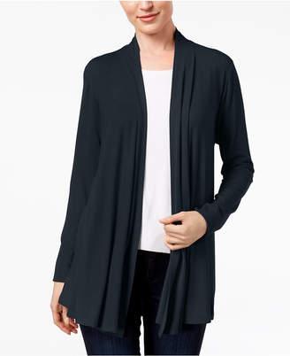 Karen Scott Cotton Open-Front Cardigan, Created for Macy's