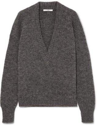 Tibi Alpaca-blend Sweater - Gray