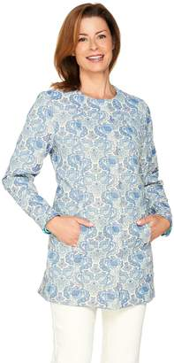 C. Wonder Floral Jacquard Snap Front Topper Coat