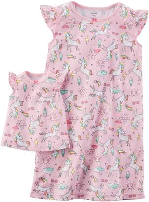 Carter's Toddler Girl Unicorn Night Gown Set