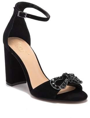 Badgley Mischka Milagros Embellished Bow Block Heel