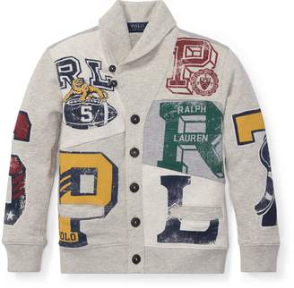 Ralph Lauren Patchwork Terry Cardigan