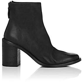 Marsèll Women's Distressed Leather Ankle Boots - Black