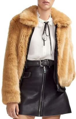Maje Brox Faux-Fur Jacket