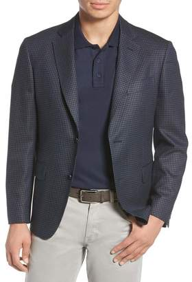 John W. Nordstrom R) Traditional Fit Check Wool Blend Sport Coat