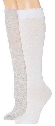 MIXIT Mixit Marled 2 Pair Over the Calf Socks - Womens