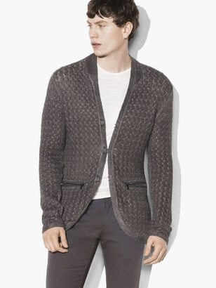 Hook & Bar Cable Sweater Jacket $498 thestylecure.com