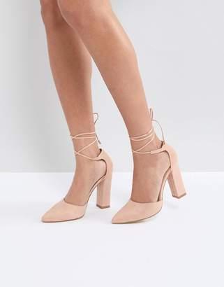 Raid RAID Pamela Ankle Tie Block Heeled Shoes
