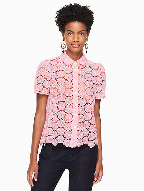 Bloom flower lace top