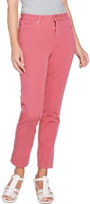 Isaac Mizrahi Live! Petite 24/7 Colored Denim 5-Pocket Ankle Jeans