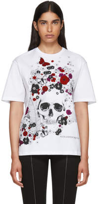 Alexander McQueen White Beardsley Skull T-Shirt