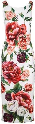 Dolce & Gabbana Peony Pencil Dress