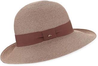Cloche Frasconi Paper Braid w/ Ribbon Hat Band