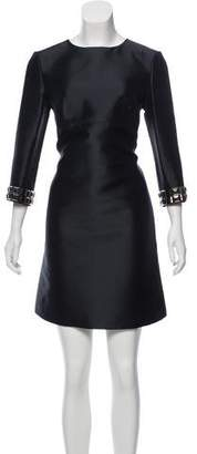 Burberry Embellished Mini Dress