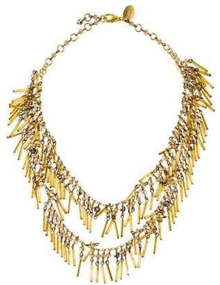 Erickson Beamon Bead Fringe Double Strand Necklace