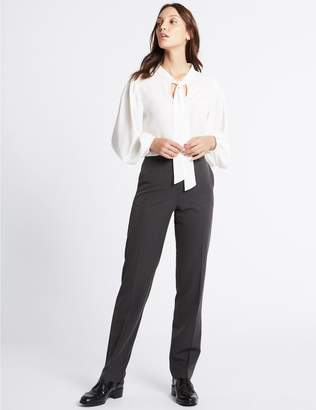 Marks and Spencer Embossed Straight Leg Trousers