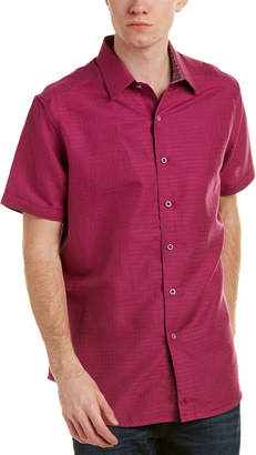 Robert Graham Briarwood Classic Fit Linen-Blend Woven Shirt