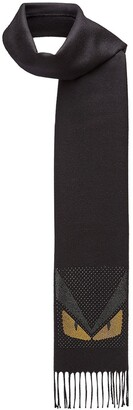 Fendi fringed micro stud Bag Bugs scarf