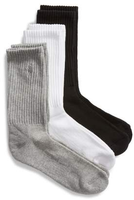 Ralph Lauren 3-Pack Cushion Sole Crew Socks