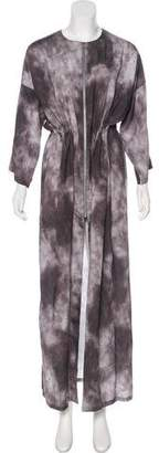 CNC Costume National Zip-Up Maxi Dress