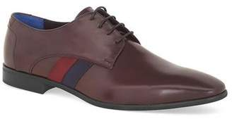 Topman Mens Red Burgundy Leather Murray Derby Shoes