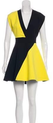 Fausto Colato Colorblock Mini Dress