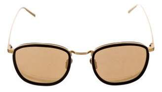 Linda Farrow Metal Mirror Sunglasses