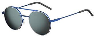 Fendi Air Men's Circular Metal Sunglasses