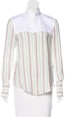 Todd Lynn Striped Button-Up Top