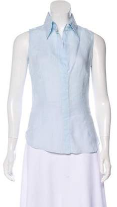 Armani Collezioni Collared Sleeveless Top