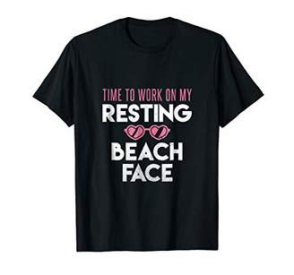 My Resting Beach Face With Heart Sunglasses Women's T Shirt