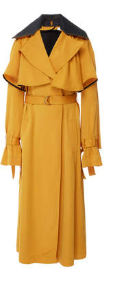 Adeam Ruffle Robe Trench Coat