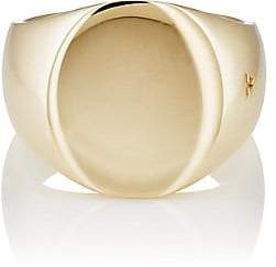 Tom Wood Women's Oval Signet Ring - Yellow