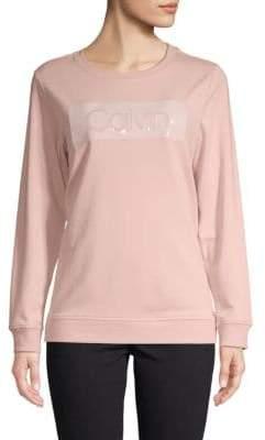 Calvin Klein Cotton-Blend Logo Sweatshirt