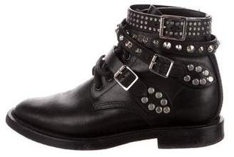 Saint Laurent Signature Rangers Ankle Boots