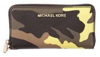 Michael Kors Leather Camouflage Wallet