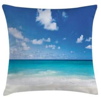 East Urban Home Exotic Caribbean Beach Square Pillow Cover East Urban Home