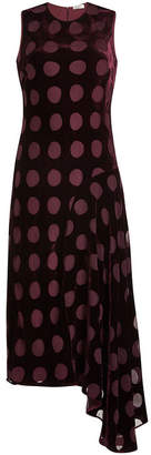 Nina Ricci Velvet Dress with Chiffon Spots