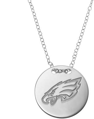 Philadelphia Eagles Sterling Silver Team Logo Disc Pendant Necklace