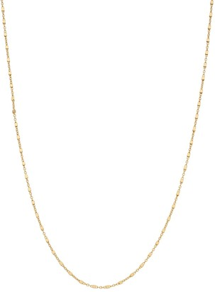 Primavera 24k Gold Over Silver Bead Chain Necklace